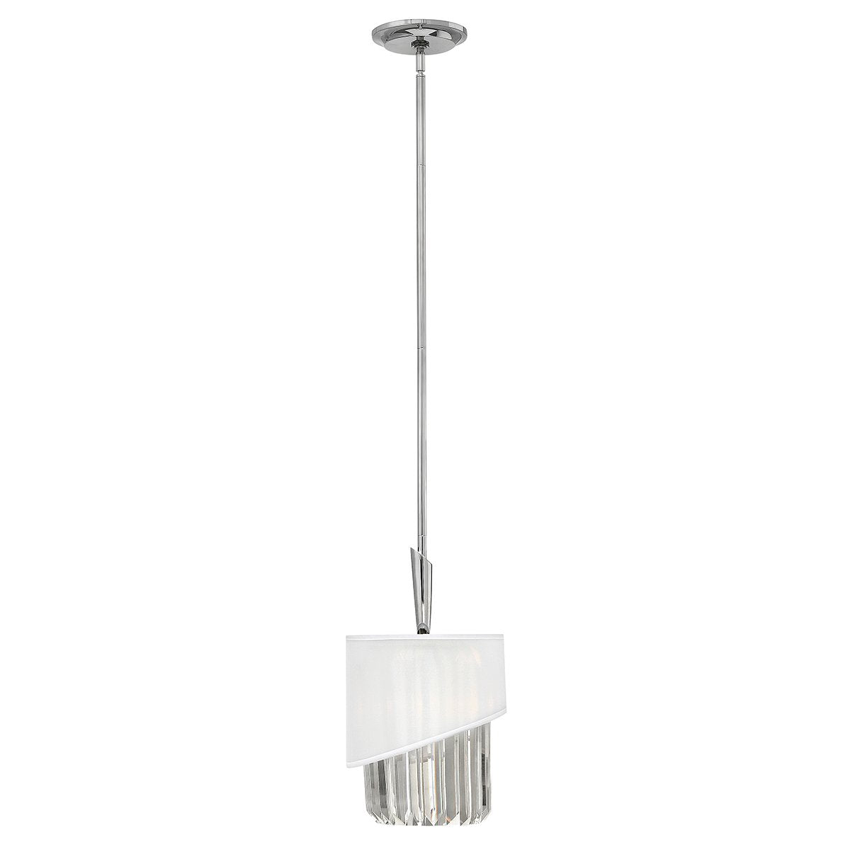 Polished Nickel Pendant Light