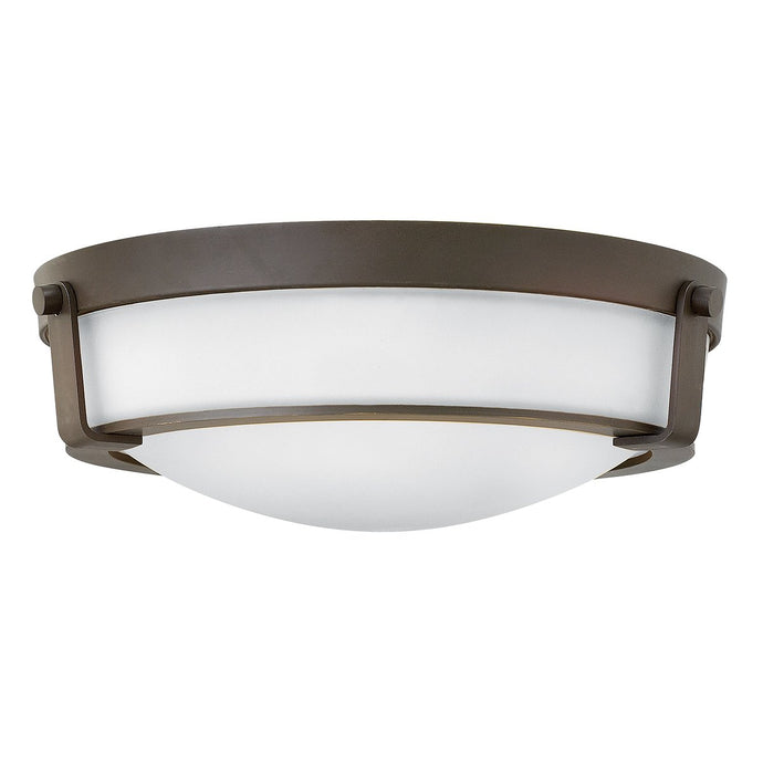 Flush Mount Three Light Olde Bronze