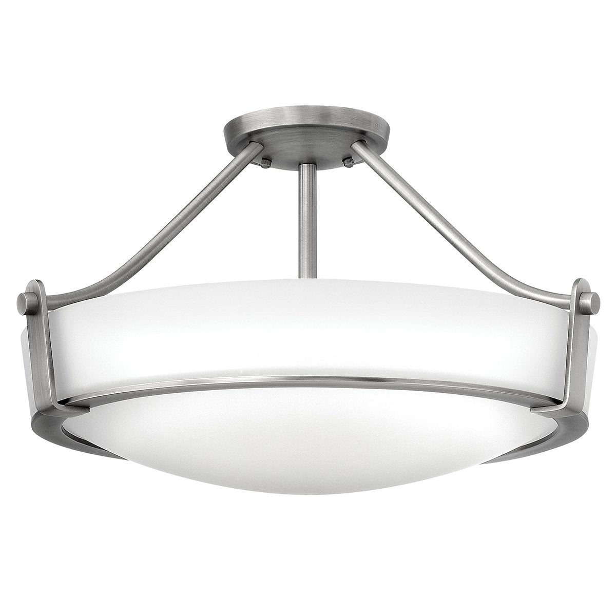 Four Light Antique Nickel Medium Semi Flush