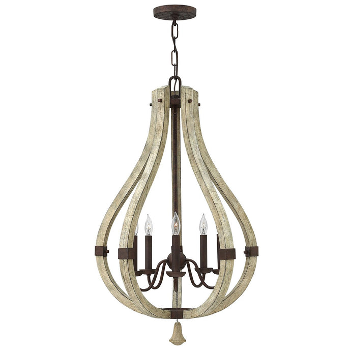 Invergordon 5 Light Rustic Chandelier - ID 9919