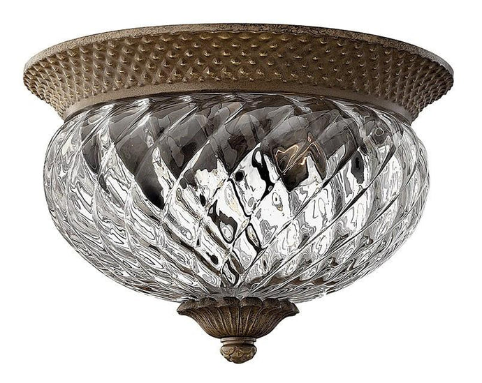 Plantation 2 Lamp Small Flush Pearl Bronze - London Lighting - 1