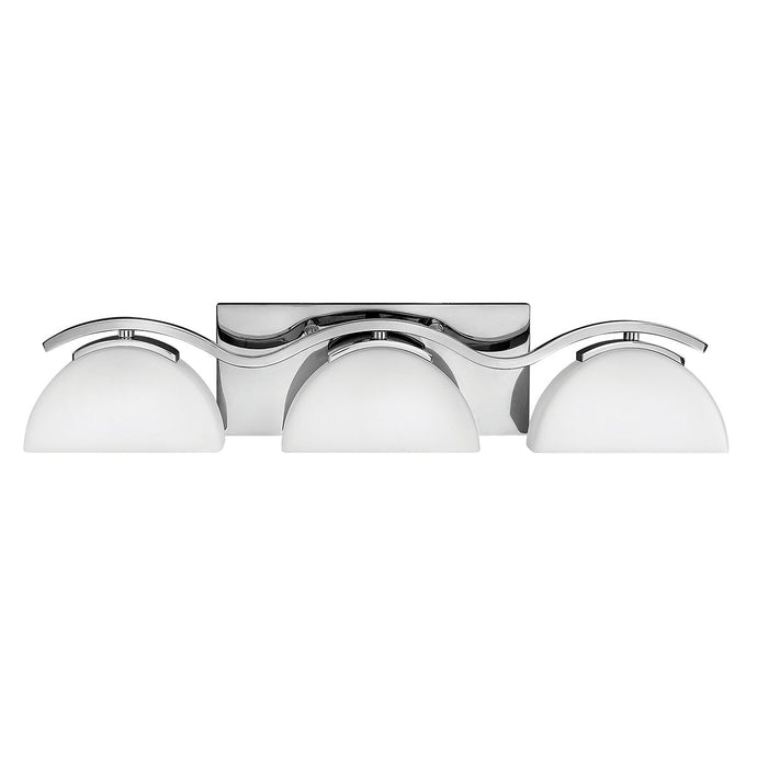 Verve Three Light Polished Chrome Bathroom Wall Light