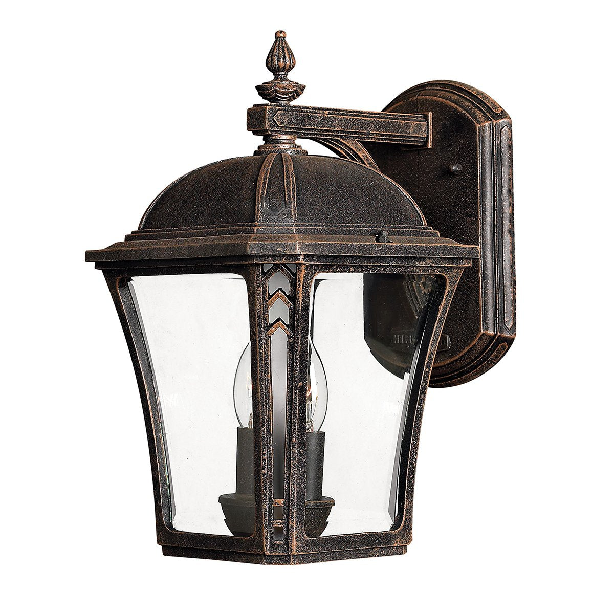 Wabash Two Light Mocha Medium Wall Lantern