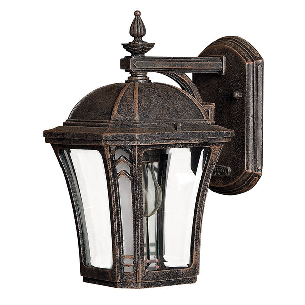 Wabash One Light Mocha Small Wall Lantern