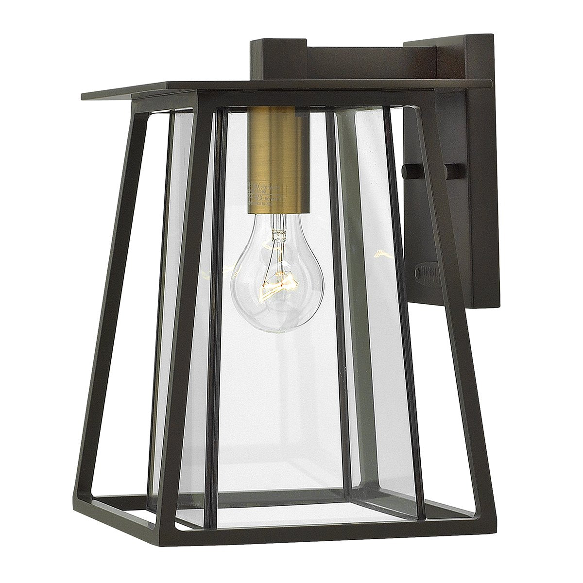 Walker One Light Buckeye Bronze Medium Wall Lantern