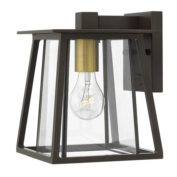 Walker One Light Buckeye Bronze Small Wall Lantern