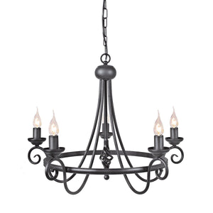 Harlech 5 Light Chandelier - London Lighting - 2