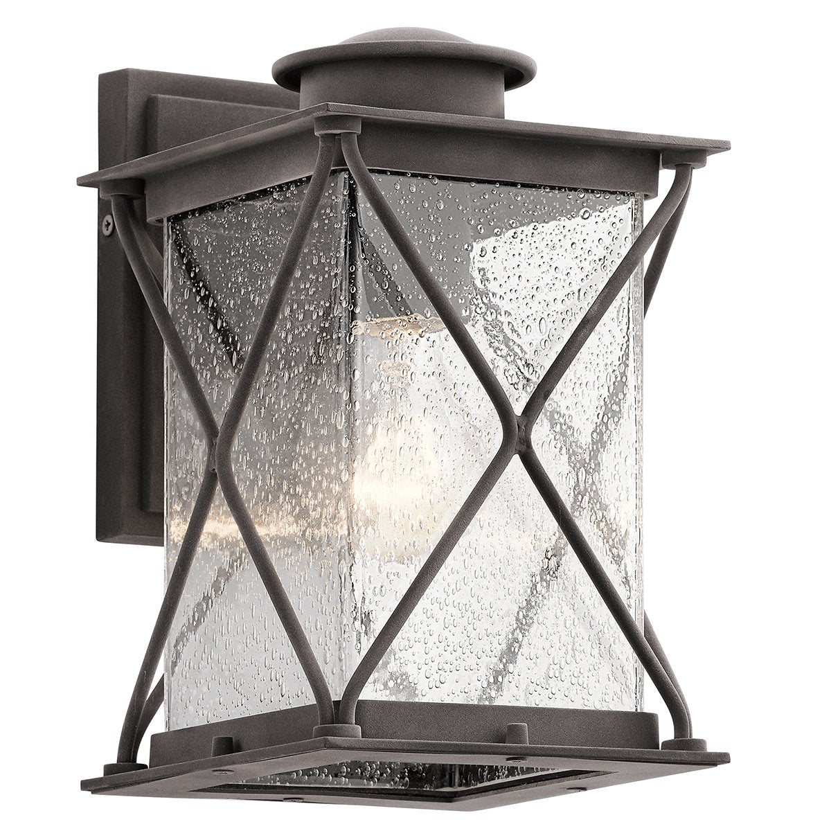 Rosemarkie Textured Weathered Zink Small Outdoor Wall Light - 9857