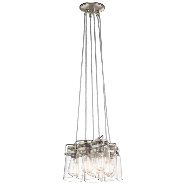Brinley Six Light Brushed Nickel Pendant Light
