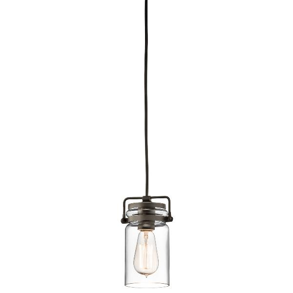 Brinley One Light Olde Bronze Mini Pendant Light