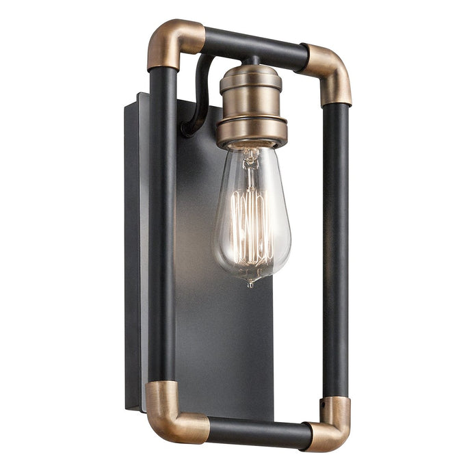 Black and Brass Wall Light