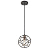 Rocklyn One Light Raw Steel Mini Pendant Light