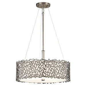 Kichler Silver Coral Duo-Mount Pendant - London Lighting - 1