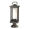 South Hope One Light Rubbed Bronze Large Pedestal