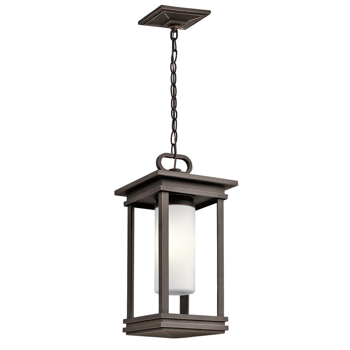 South Hope One Light Rubbed Bronze Small Chain Lantern
