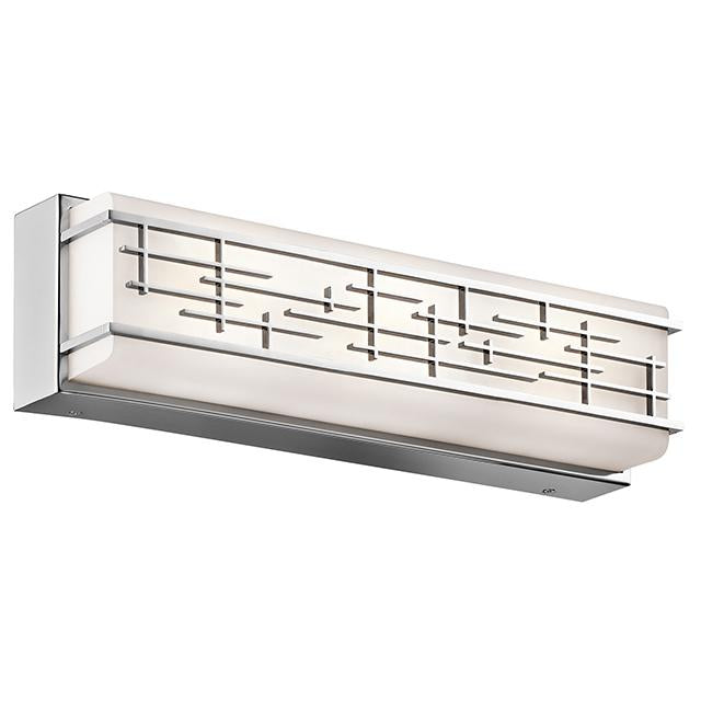 Zolon Polished Chrome Medium Linear Bath LED Fitting