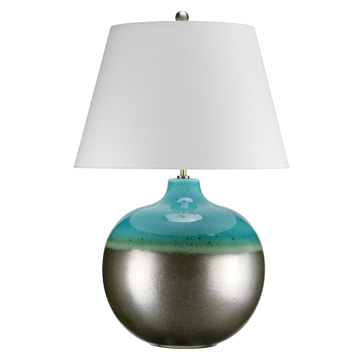 Lampton Large Turquoise Table Lamp c/w Shade - ID 8374