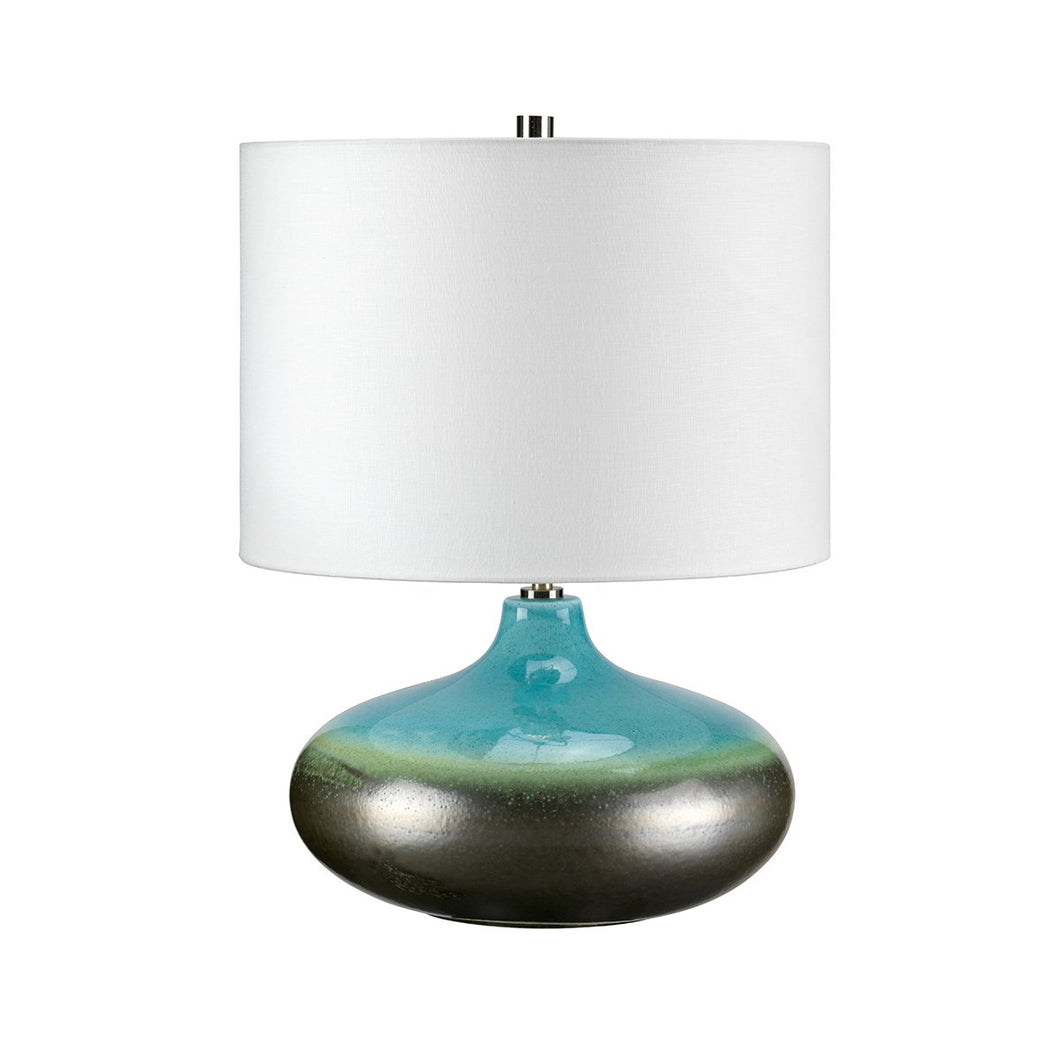 Lampton Small Turquoise Table Lamp c/w Shade - ID 8375