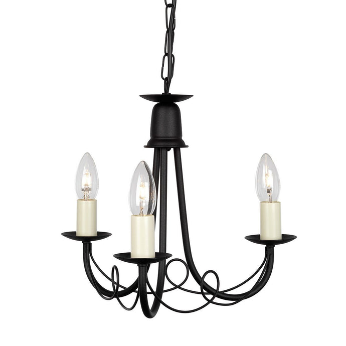 Minster 3 Arm Chandelier - London Lighting - 1