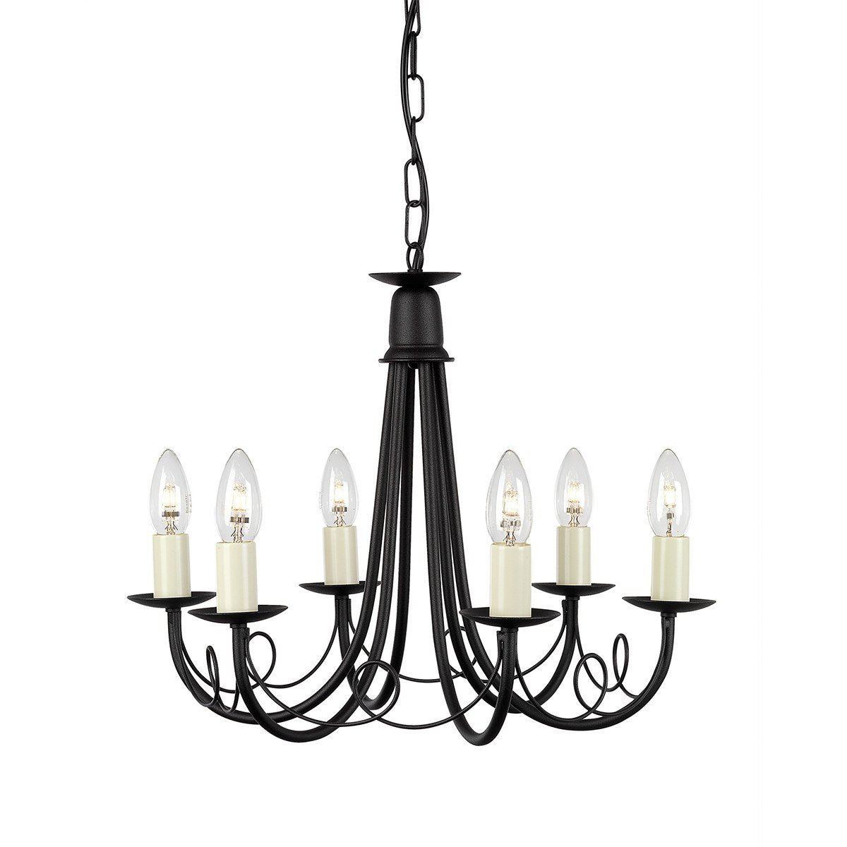 Minster 6 Arm Chandelier - London Lighting - 1