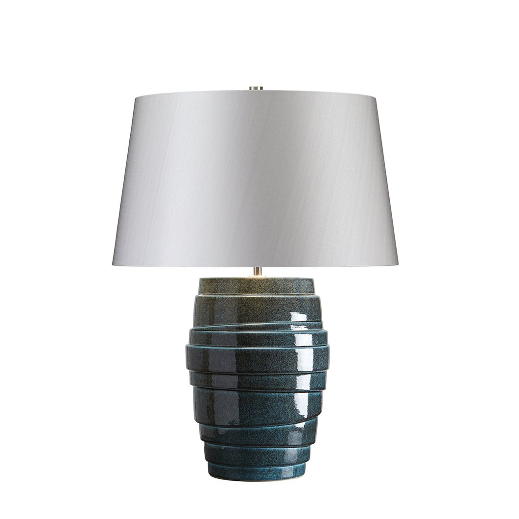 Newcross Blue Table Lamp c/w Shade - ID 8383