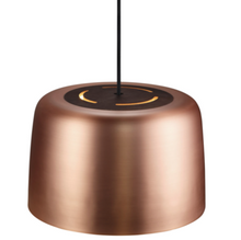 Copper Shade Single Pendant With Oiled Walnut Centre- ID 5085