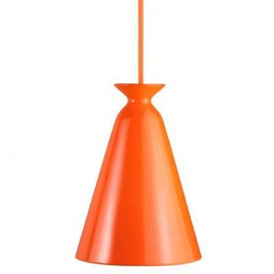 Orange Ceramic Single Pendant Light - 5083