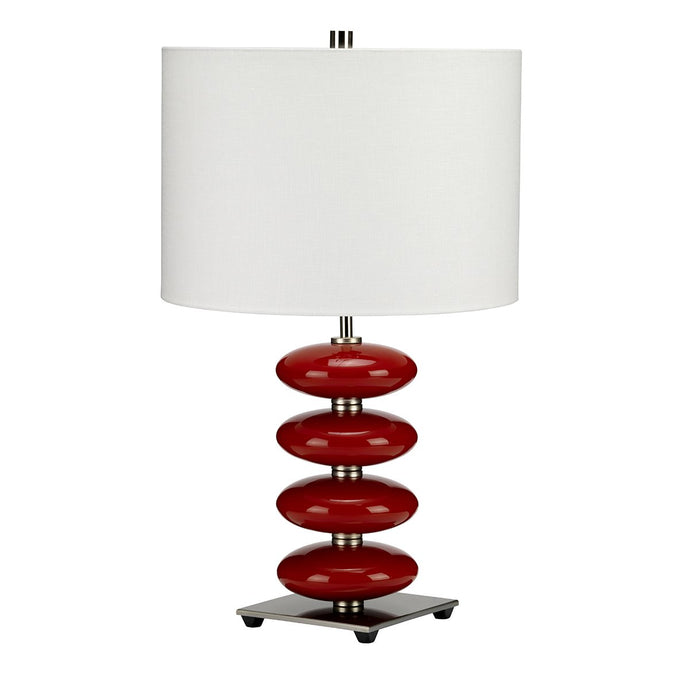 Oldmalden Red Table Lamp c/w Shade - ID 8385