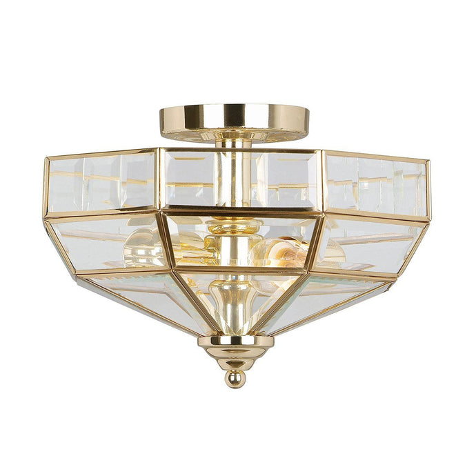 Hampton Hill Semi-Flush Ceiling Light Polished Brass - ID 5153
