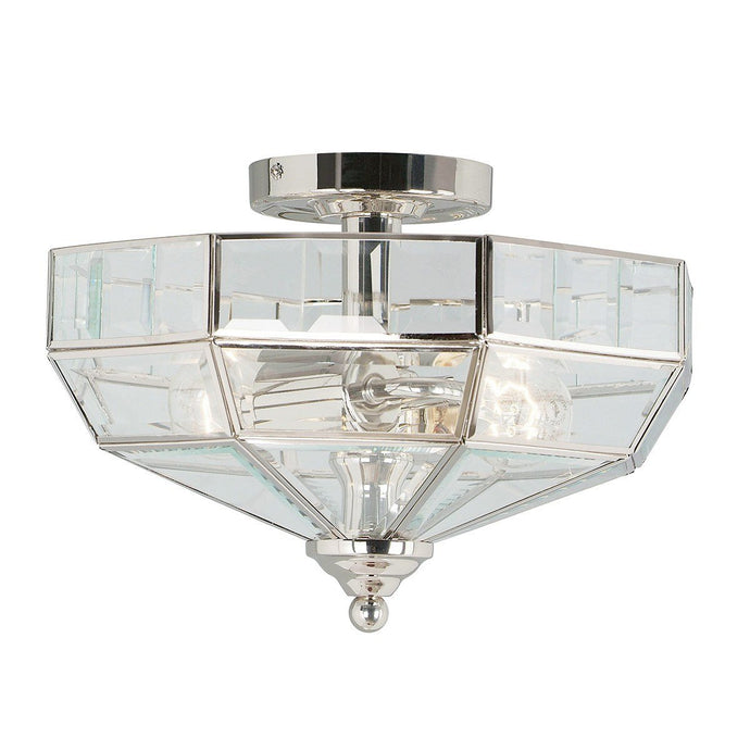 Hampton Hill Semi-Flush Ceiling Light Polished Nickel - ID 5031