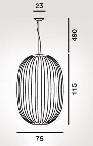 Foscarini Plass Grande Suspension Pendant - London Lighting - 8