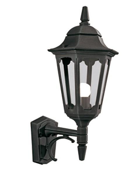 Parish Up Wall Lantern Black - London Lighting - 1