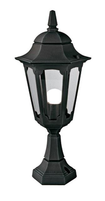 Parish Pedestal Lantern Black - London Lighting - 1