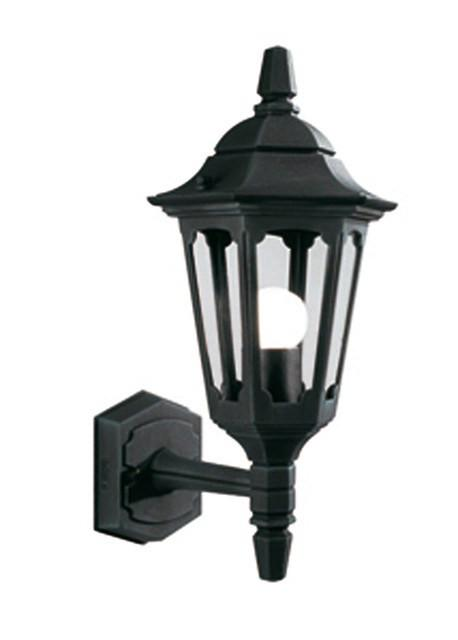 Parish Mini Up Wall Lantern Black - London Lighting - 1