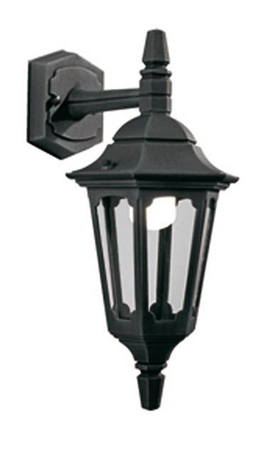 Parish Mini Down Wall Lantern Black - London Lighting - 1