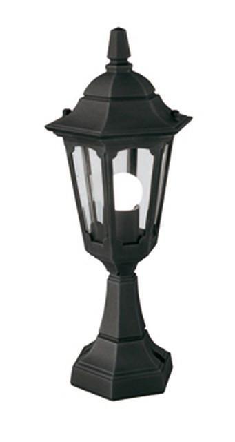 Parish Mini Pedestal Lantern Black - London Lighting - 1
