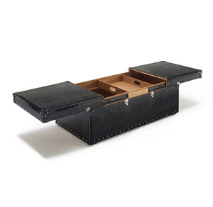 Mock Crocodile Coffee Table with Ash Interior - ID 9073