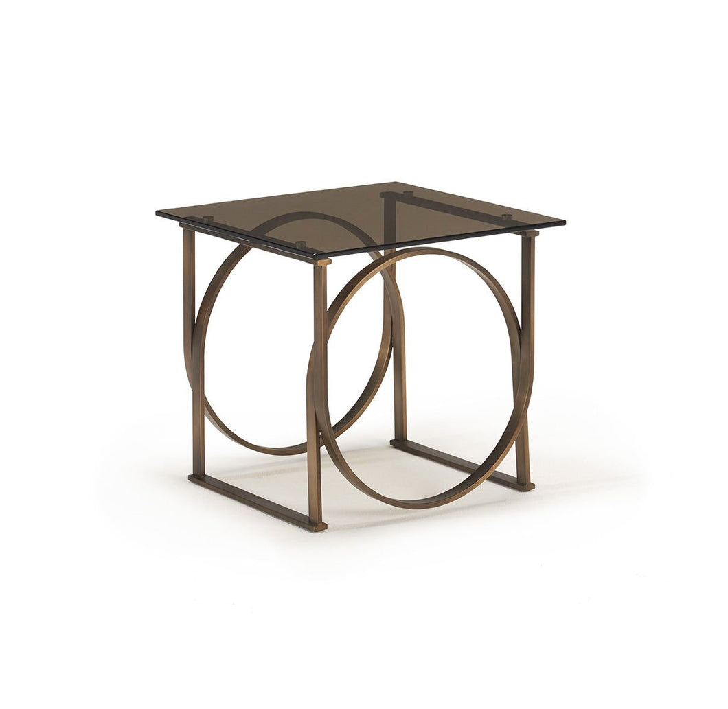 Brox Brushed Brass & Bronze Lamp Table - ID 9076