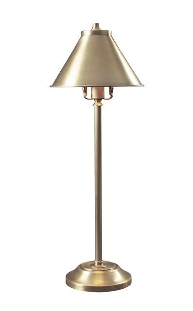Aged Brass Stick Desk Lamp