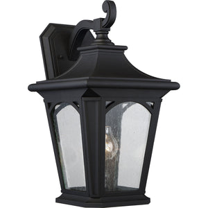 Bedford One Light Large Mystic Black Wall Lantern Light