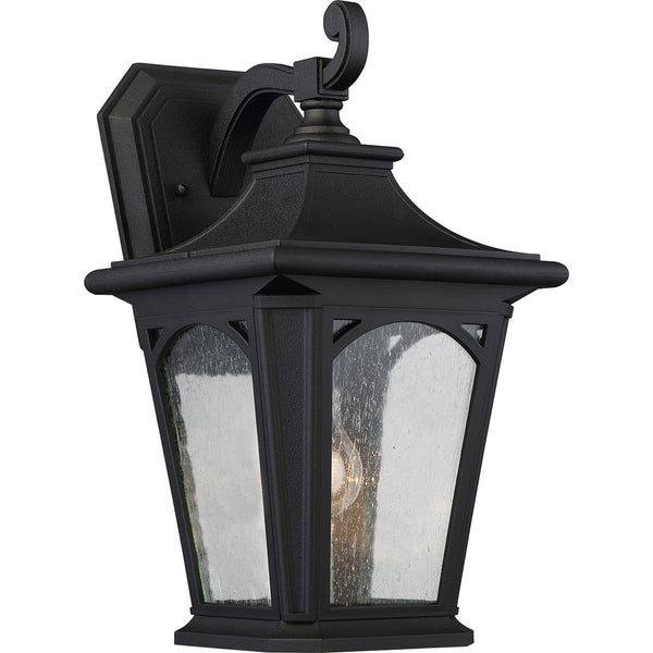 Bedford One Light Medium Mystic Black Wall Lantern Light
