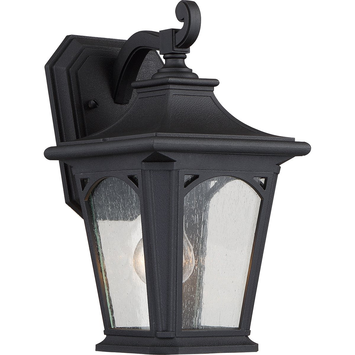 Bedford One Light Small Mystic Black Wall Lantern Light