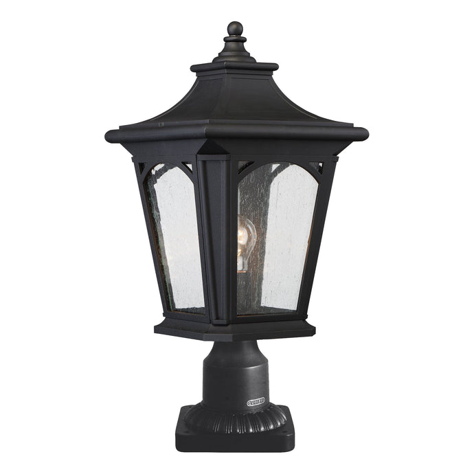 Bedford One Light Medium Mystic Black Pedestal Lantern Light