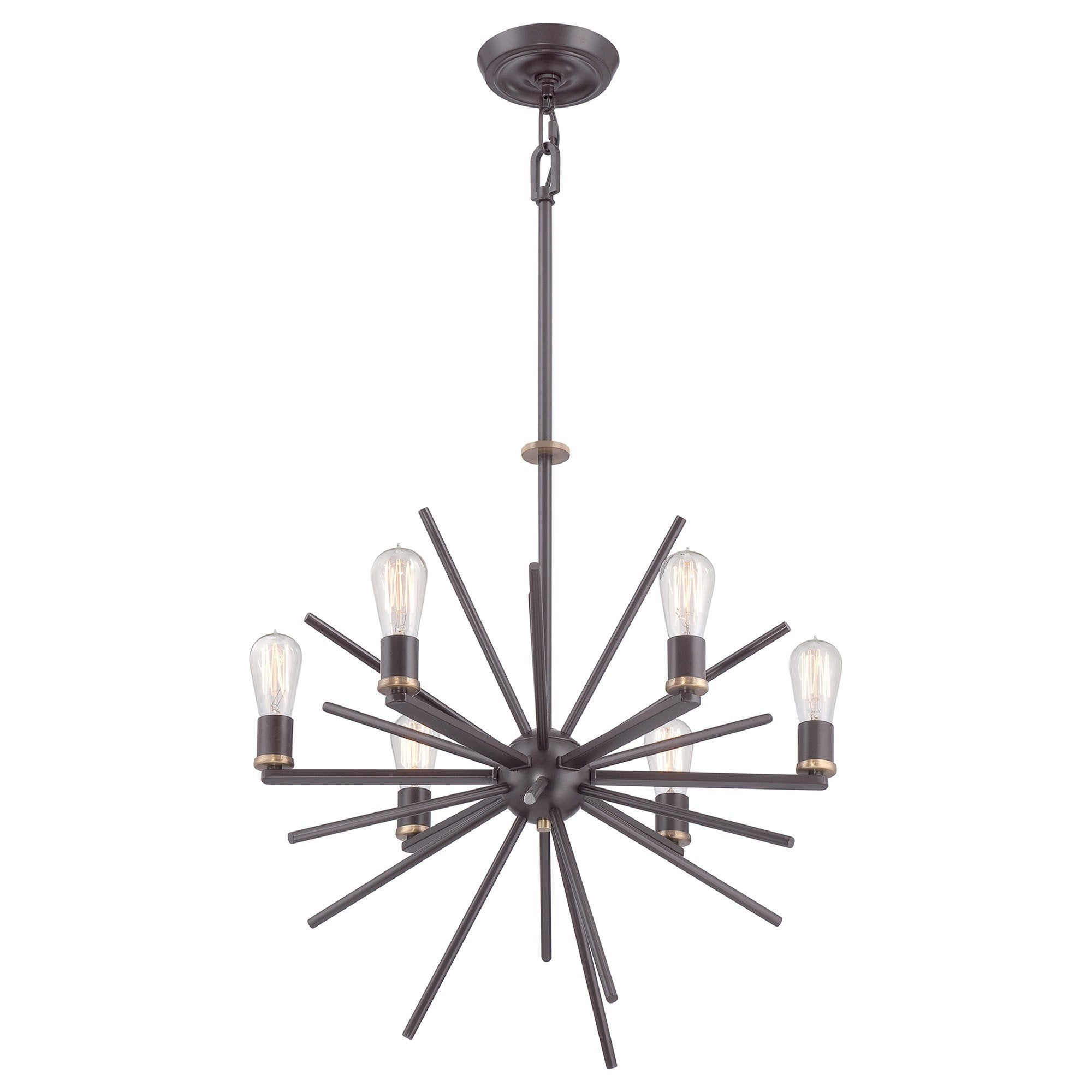Quoizel Carnegie 6 Light Chandelier - London Lighting - 1