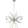 Eight Light Silver Chandelier