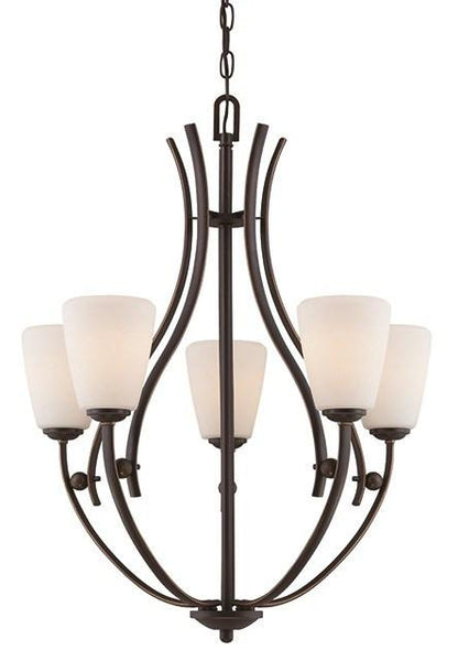 Chantilly 5 Lamp Chandelier - London Lighting - 1
