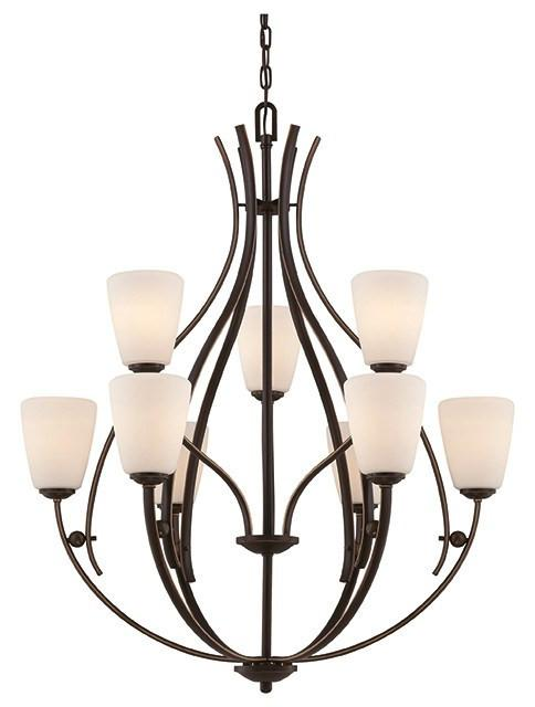 Chantilly 9 Lamp Chandelier - London Lighting - 1