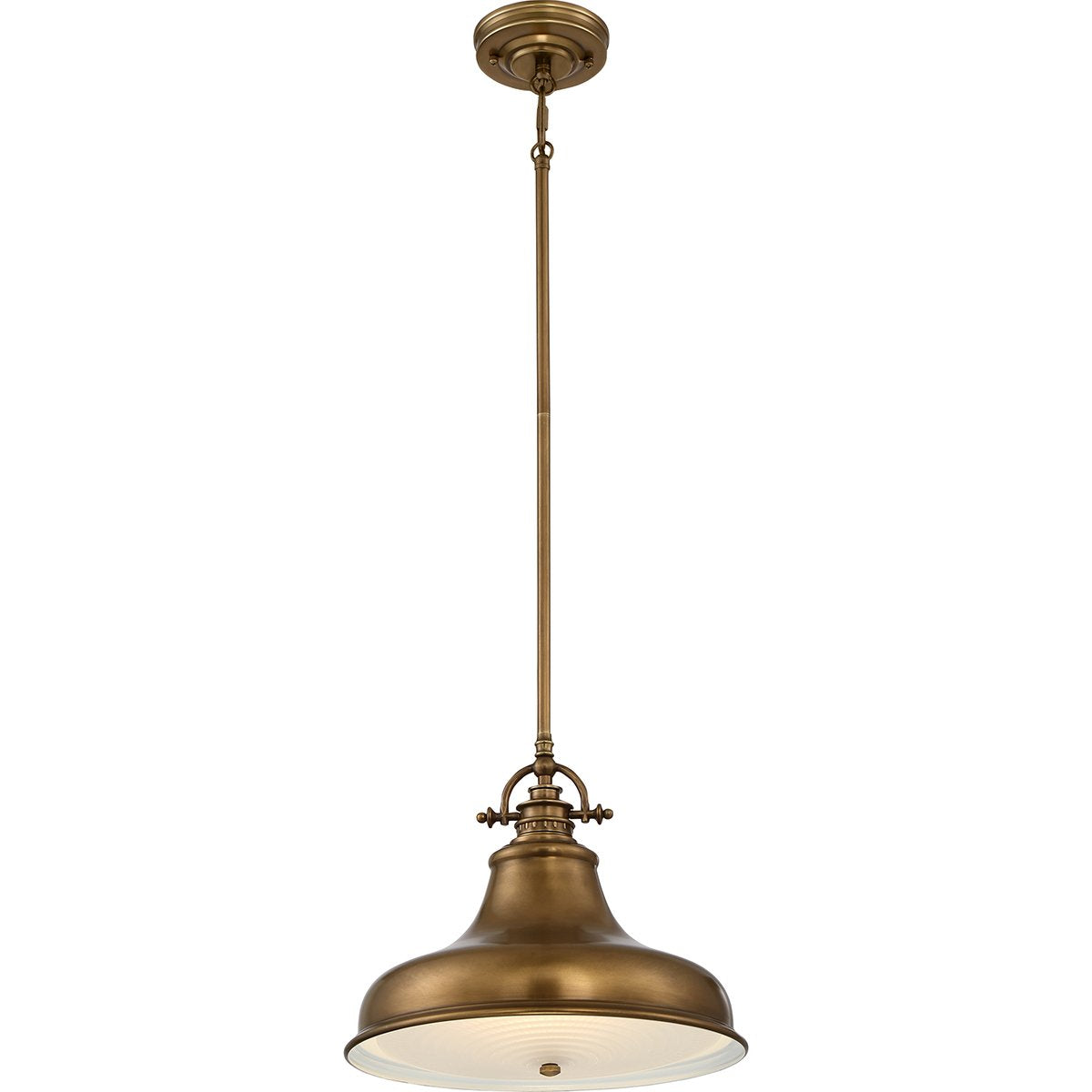 Single Pendant Weathered Brass Light