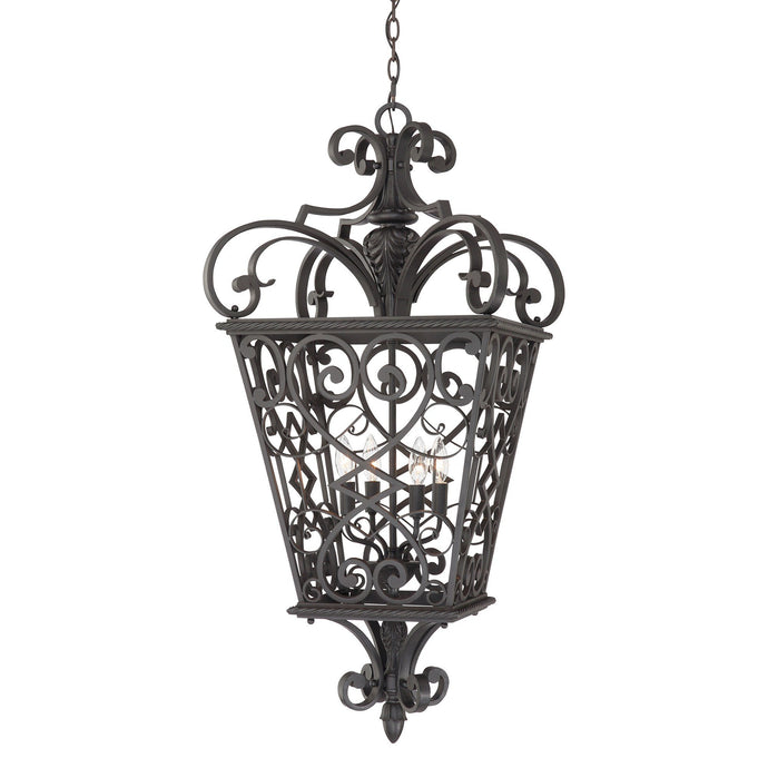 Quoizel Fort Quinn 4 Light Chain Lantern - London Lighting - 1