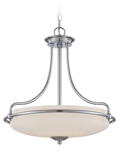 Griffin Pendant Light Chrome - London Lighting - 1